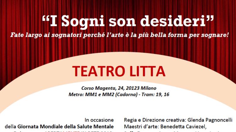 """SPETTACOLO TEATRALE: """"I SOGNI SON DESIDERI"""" – Teatro Litta"""